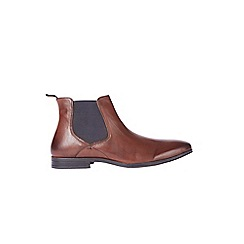 Burton - Brown leather Chelsea boots