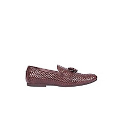 Burton - Brown weave loafers