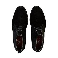 Burton - Black suede look desert gum sole boots