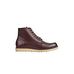 Burton - Burgundy leather boots