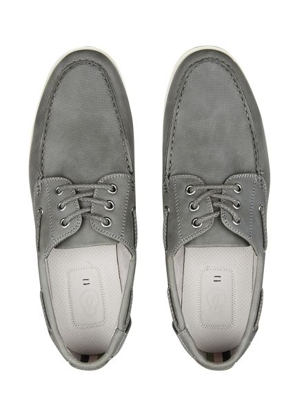 shoes Grey Burton leather boat look qOCSwIxC