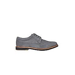 Burton - Grey suede 'Tate' brogue shoes