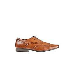 Burton - Brown leather look shoes