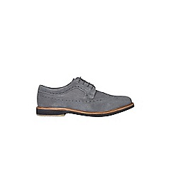 Burton - Grey suede brogue shoes