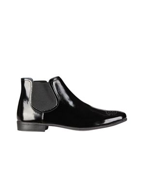 Burton - Black 'Hi Shine' chelsea boots