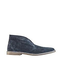 Burton - Navy real suede desert boots