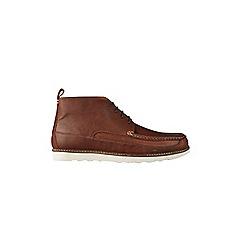 Burton - Tan leather chukka boots