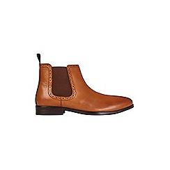 Burton - Tan leather Chelsea boots
