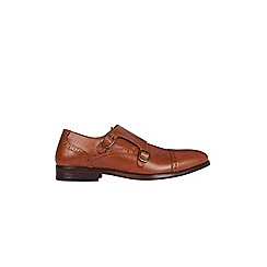 Burton - Tan leather monk shoes