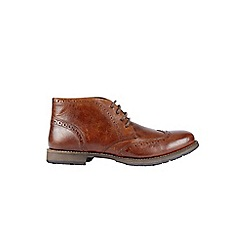 Burton - Tan brogue boots