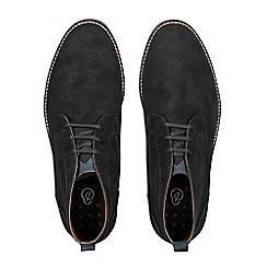 Burton - Charcoal black leather chukka boots