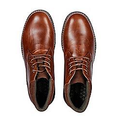 Burton - Tan leather look chukka boots