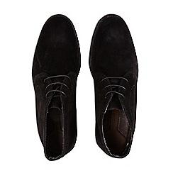 Burton - Black suede look desert boots