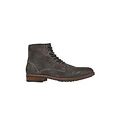 Burton - Grey suede zip boots