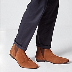 Burton - Tan Suede Chelsea Boots
