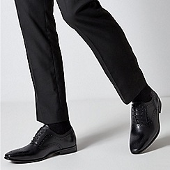 Burton - Black Leather Oxford Shoes