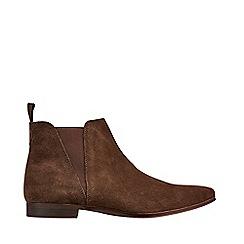Burton - Brown Suede Chelsea Boots