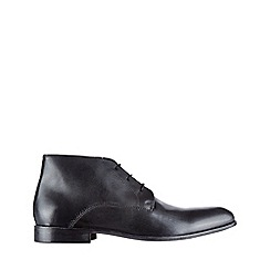 Burton - Black leather chukka boots