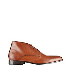Burton - Tan leather chukka boots