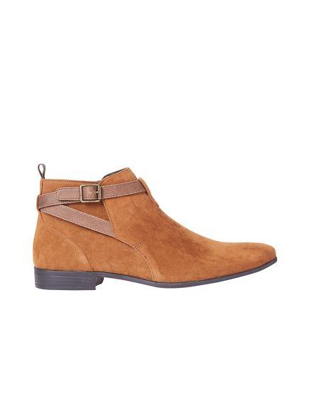 Chelsea Burton suede boots Tan look nOwqrvn5T