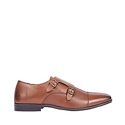 Burton - Brown leather monk shoes