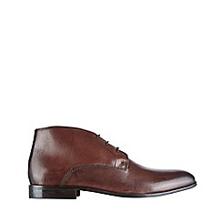Burton - Brown leather chukka boots