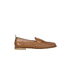 Burton - Tan woven loafers