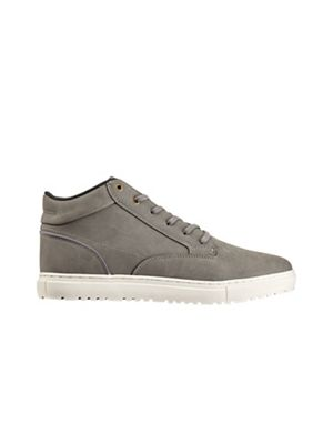 Burton - Grey leather look sports boots