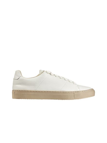 White trainers White look Burton Burton look leather leather pq7Cgwq