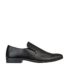 Burton - Black Leather Look Shoes