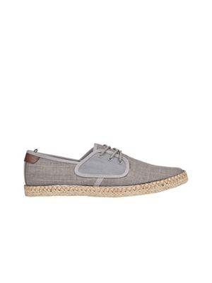 Burton - Grey twill espadrilles Fashionable and eye-catching shoes