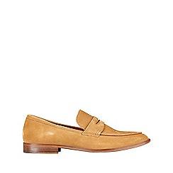 Burton - Khaki suede saddle loafers