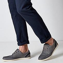 Burton - Grey Mesh Boat Shoes
