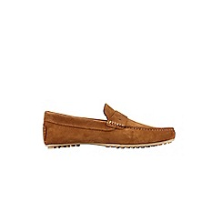 Burton - Tan suede 'Hopkins' driving loafers