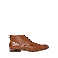 Burton - Tan leather look desert boots