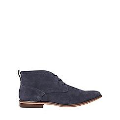Burton - Navy suede look desert boots