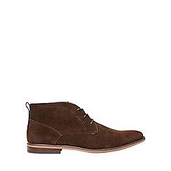 Burton - Brown suede look desert boots
