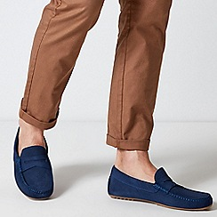 Burton - Blue Suede Driving Loafers