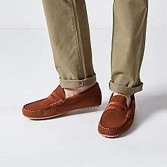 Burton - Tan Suede Driving Loafers