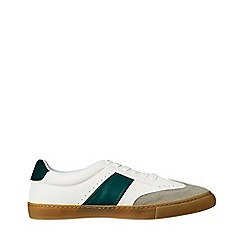 Burton - White leather look trainers