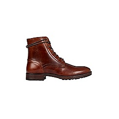 Burton - Tan leather worker boots