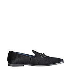 Burton - Black Velvet Loafers