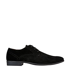 Burton - Black Suede Look Derby Shoes