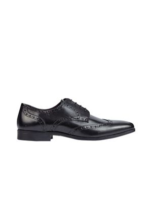 Burton - Black leather formal brogue shoes