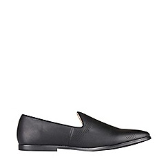 Burton - Black leather look loafers