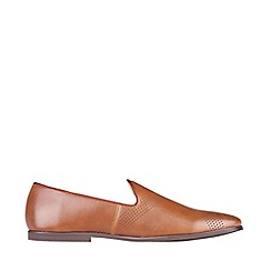 Burton - Tan leather look loafers