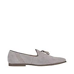 Burton - Grey suede look tassel loafers