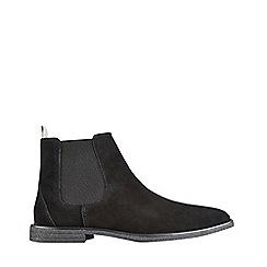 Burton - Black suede Chelsea boots