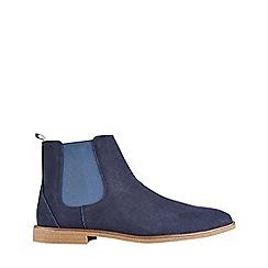 Burton - Navy suede chelsea boots