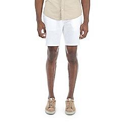 Burton - White stretch smart chino shorts